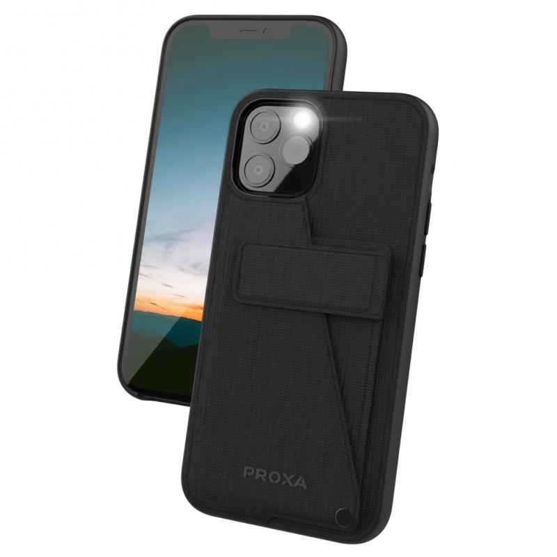 Proxa Rotational Wallet Case for iPhone 12 / 12 Pro (Classic Black)