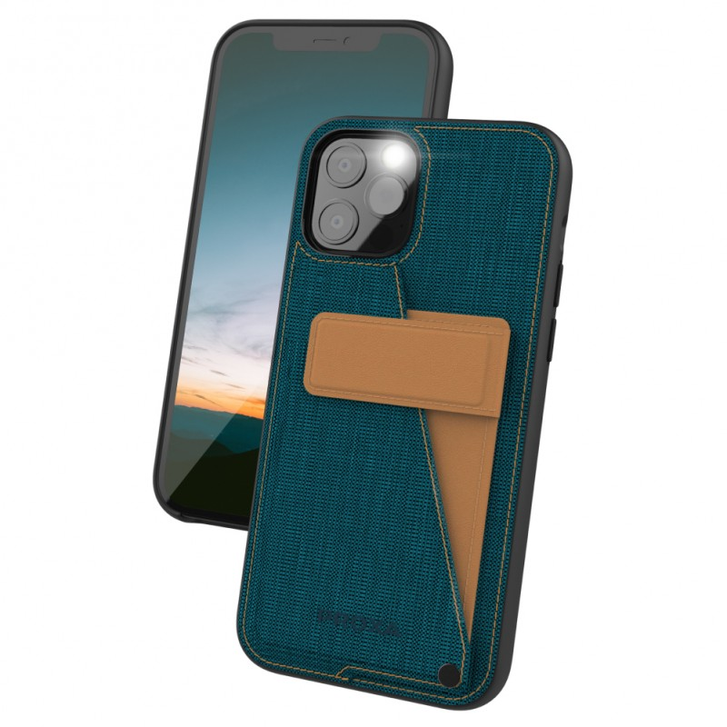 Proxa Rotational Wallet Case for iPhone 12 / 12 Pro (Pacific Blue)