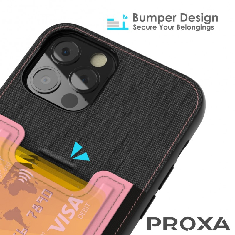 Proxa Slim Card Case for IPhone 12 / 12 Pro (Rose Pink)
