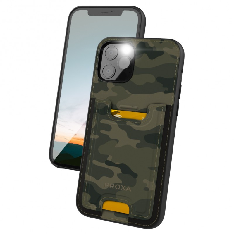 Proxa Slim Card Case for IPhone 12 / 12 Pro (Camouflage Green)