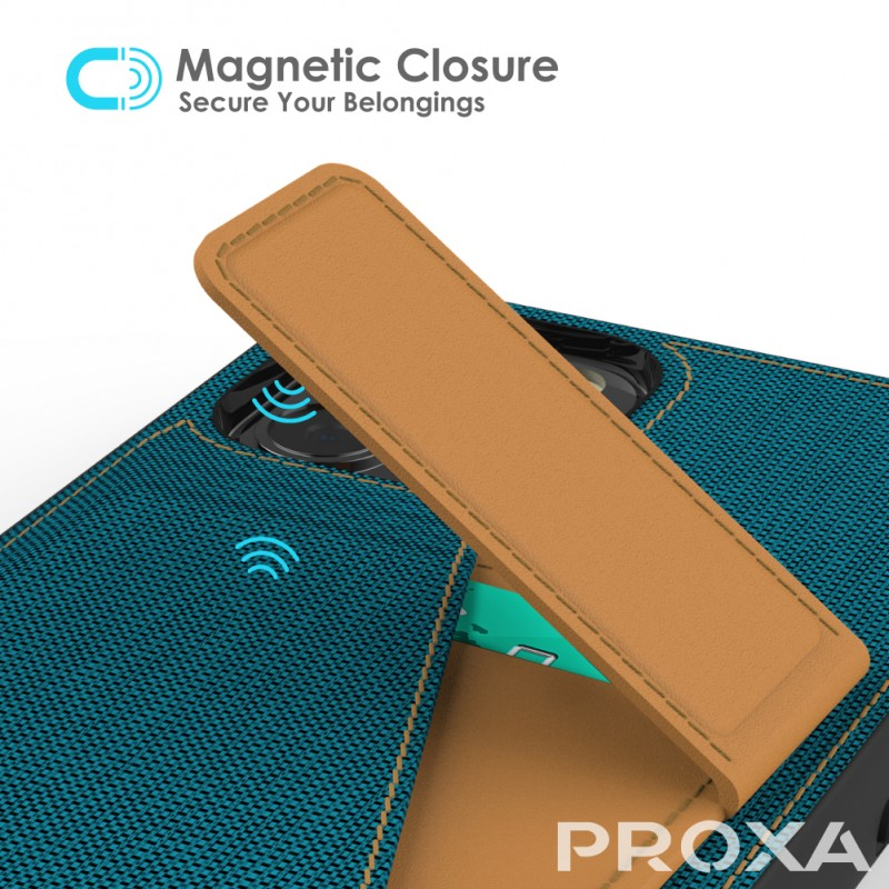 Proxa Rotational Wallet Case for iPhone 12 Pro Max (Pacific Blue)
