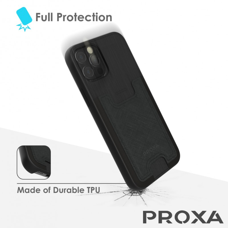 Proxa Slim Card Case for IPhone 12 Pro Max (Classic Black)