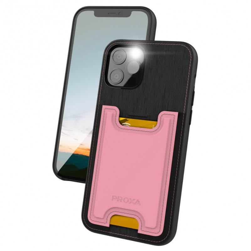 Proxa Slim Card Case for IPhone 12 Pro Max (Rose Pink)