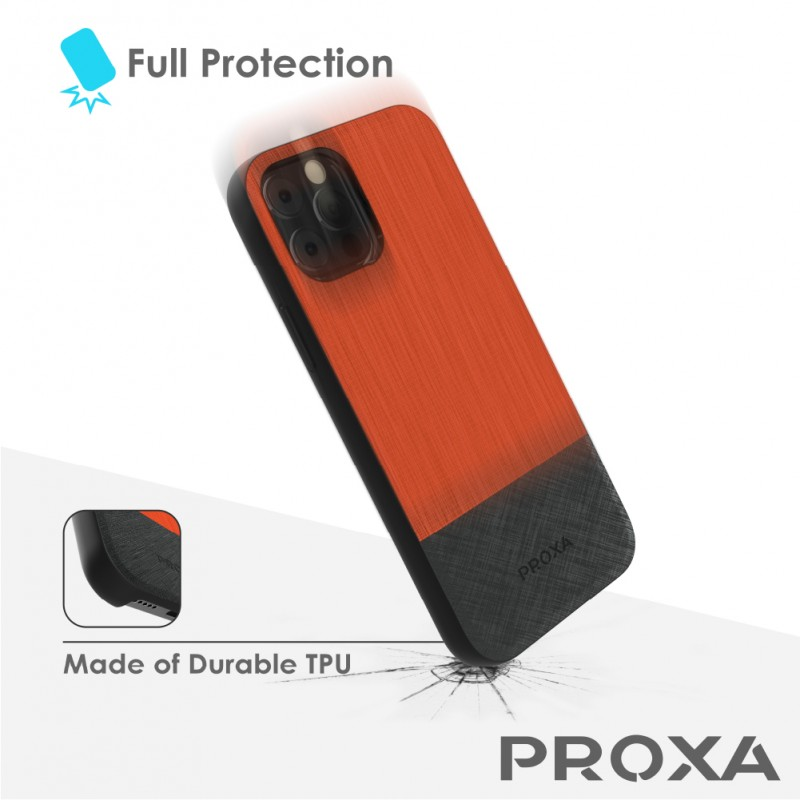 Proxa Car Charger MagSafe Case for IPhone 12 Pro Max (Sunset Orange)