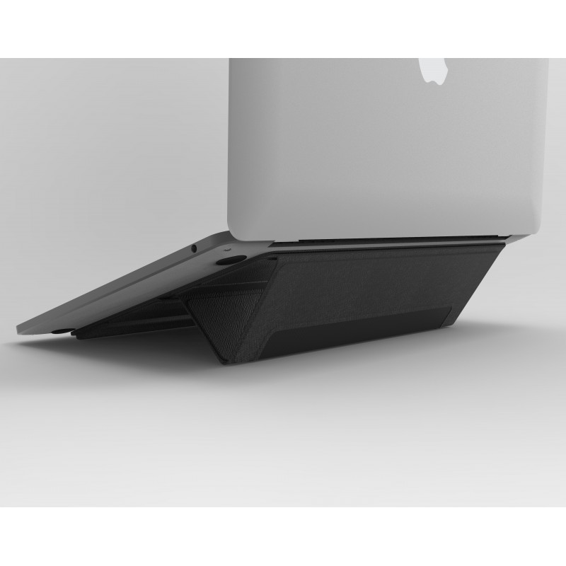 """PROXA PU Leather Laptop Stand for MacBook 13"""" to 16"""" - Classic Black"""