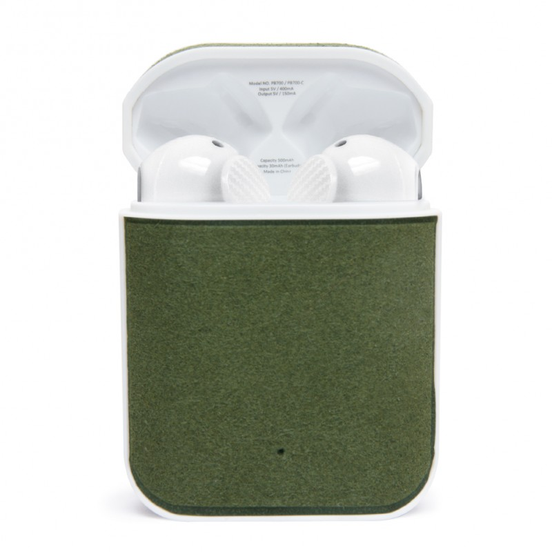 PBuds-Wireless Bluetooth Earbuds(Microfiber / Mineral Green)