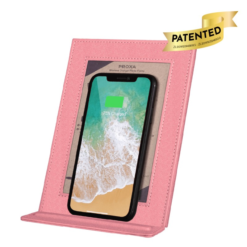 Wireless Charger Photo Frame (Peach Pink)