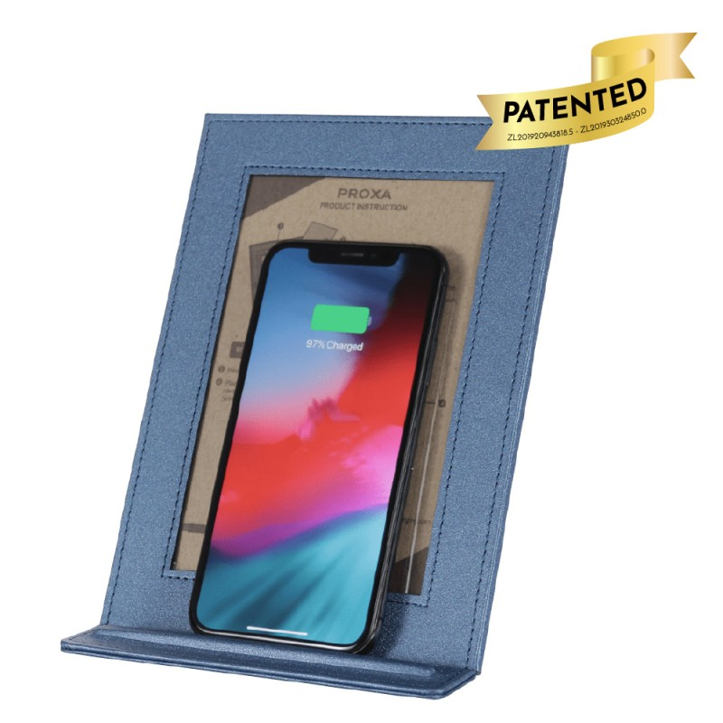 Wireless Charger Photo Frame (Galaxy Blue)