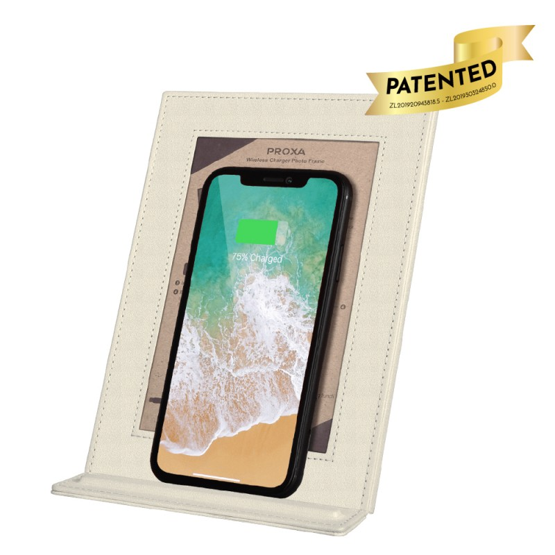 Wireless Charger Photo Frame (Ivory White)